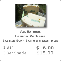 Lemon Verbana All Natural Soap with Goat Milk